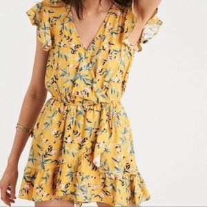 NWT - American Eagle Yellow Floral romper